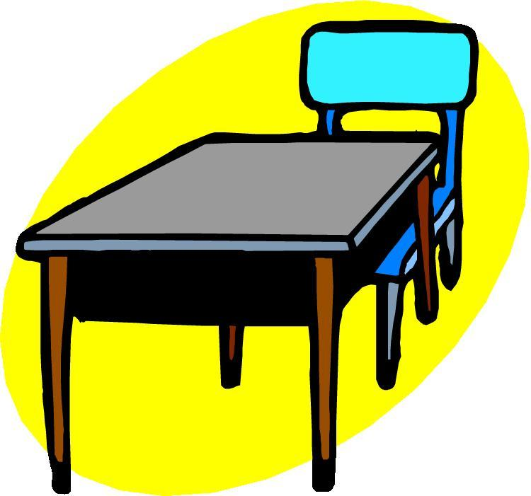 Furniture clipart school table Table clip and art Clipart