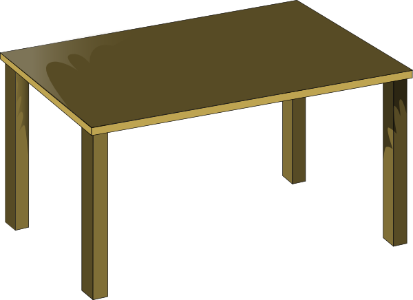 Furniture clipart school table Download royalty online vector clip