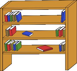 Furniture clipart shelf Library Library Art Books Art