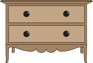 Furniture clipart side table Two with Bedside Table with