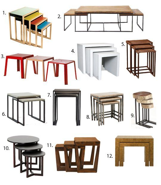 Furniture clipart side table 25+ Nesting tables Tables 2013