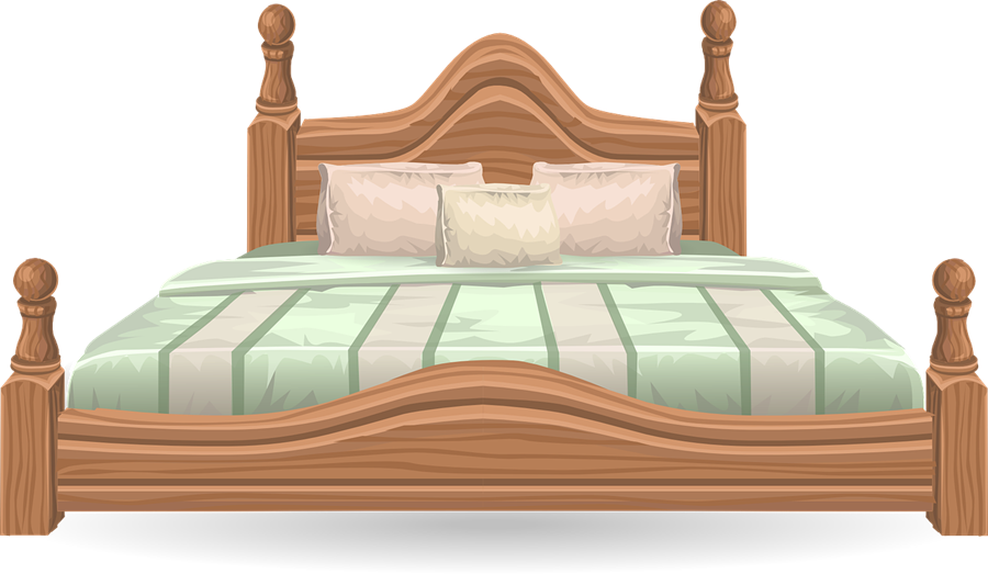 Furniture clipart single bed Clipart Bed Clip Clip with