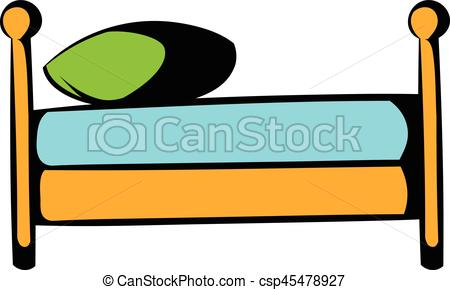 Furniture clipart single bed Bed bed csp45478927 icon Single