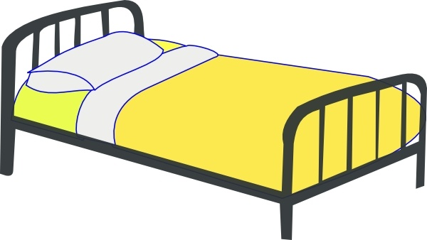 Furniture clipart single bed Svg drawing  Bed Single