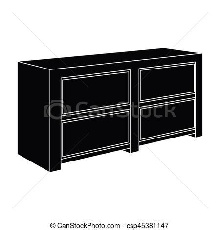 Furniture clipart single bed To drawers bedside Nightstand next