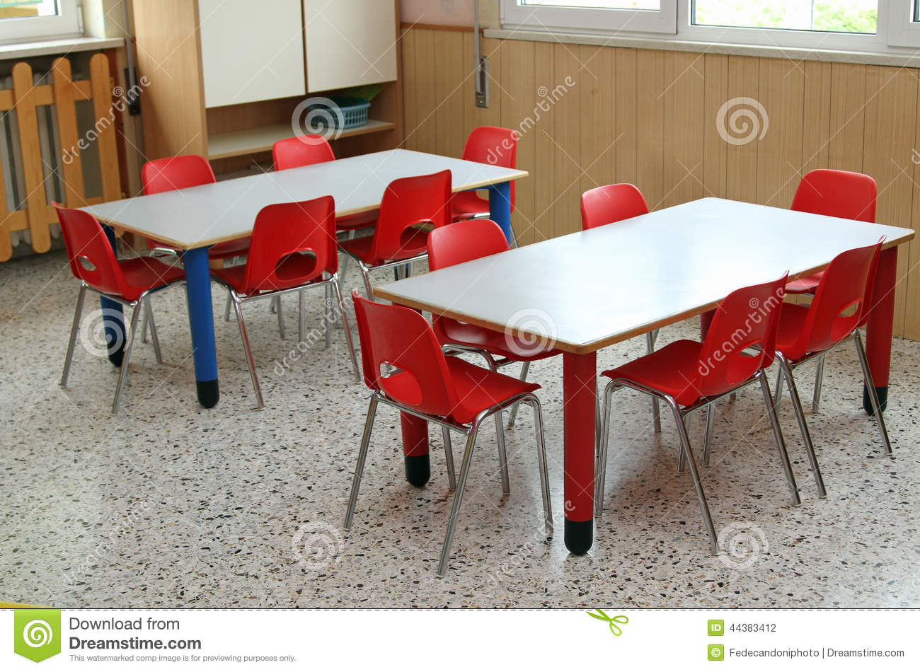 Furniture clipart small table Table Chairs Kindergarten Classroom Clipart