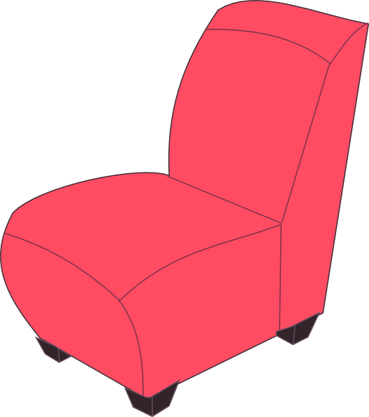 Furniture clipart sofa Sofa Chairs The Clipart Pink