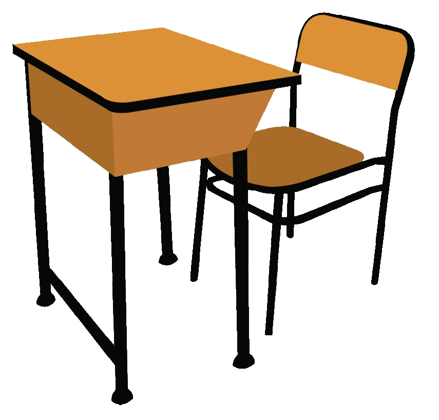 Furniture clipart solid Student Desk Clipart Furniture Solid