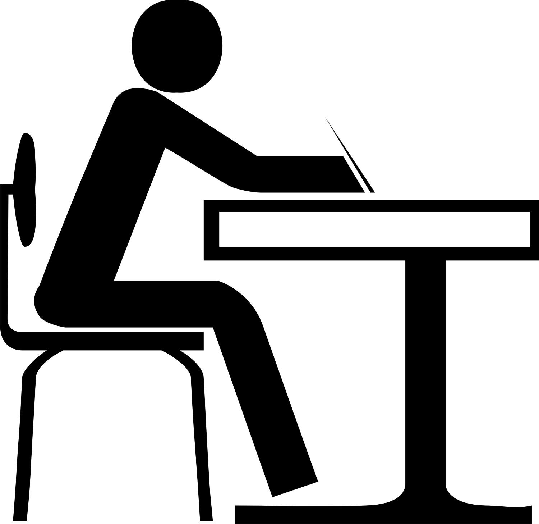 Furniture clipart student desk At Sitting Cliparts Black Desk