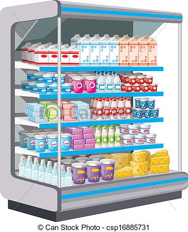 Furniture clipart supermarket shelf Csp16885731 Supermarket  products of
