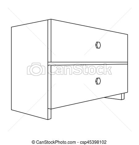 Furniture clipart things Things White Clipart  bedside