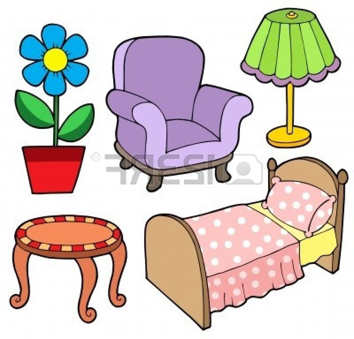 Furniture clipart things Clip Bedroom Things furniture bedroom