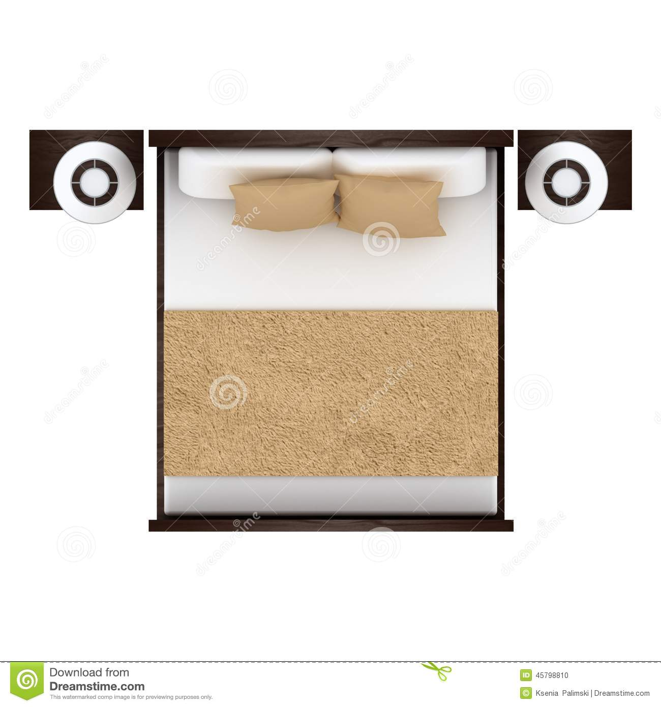 Furniture clipart top view White ( 45798810 view isolated