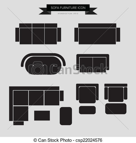 Furniture clipart top view  Bed Vector Furniture Icon