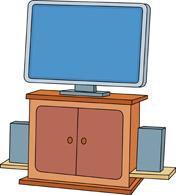 Desk clipart bedroom furniture Furniture Clipart Clip television stand
