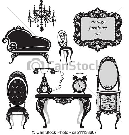 Furniture clipart vector art Furniture of csp11133607 of of
