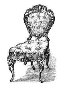 Furniture clipart vintage chair Find more vintage this and