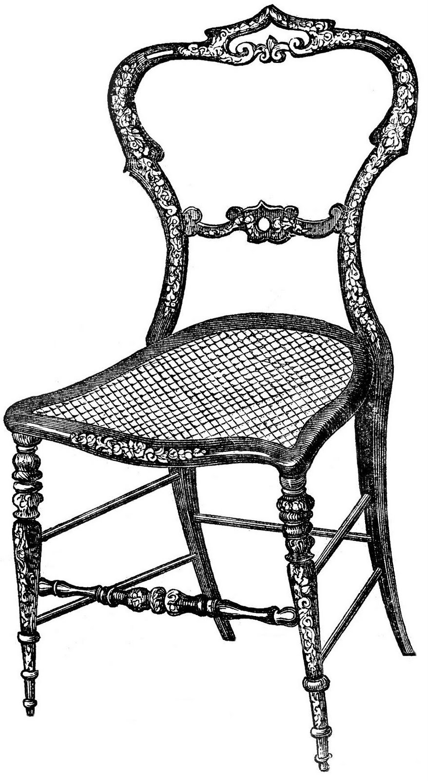 Furniture clipart vintage chair Vintage Frenchy Image Image Cute