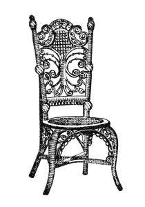 Furniture clipart vintage chair Imagen ~ recepción del del