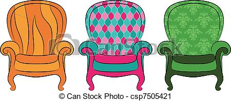 Furniture clipart vintage chair Vector vintage Clip arm for