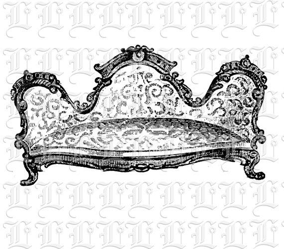 Furniture clipart vintage chair Items Victorian Victorian Chair similar