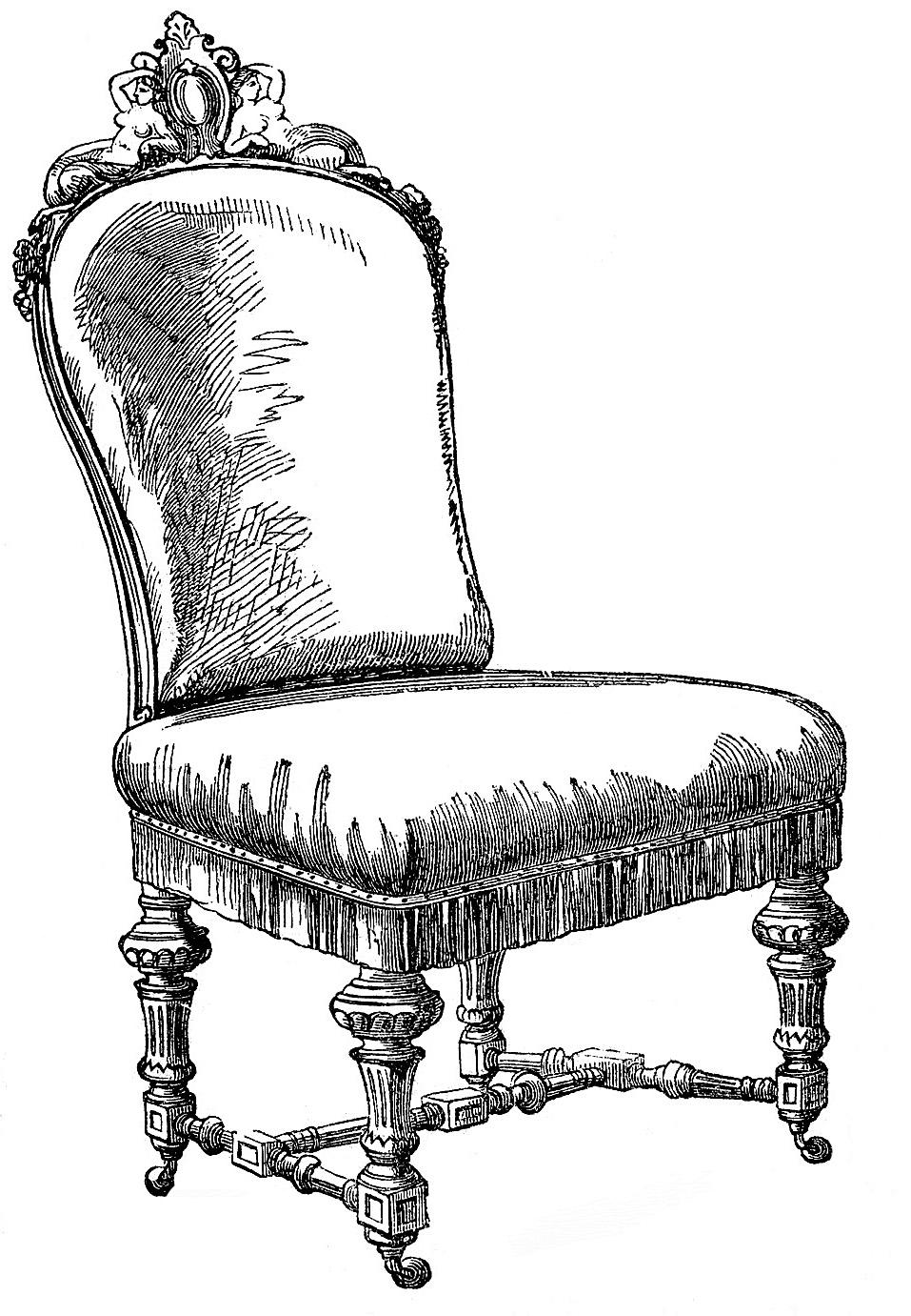 Furniture clipart vintage chair Vintage Frenchy Clip Clip –