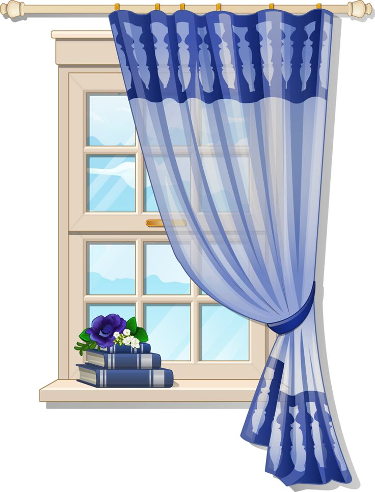 Windows clipart house furniture Best Furniture clipart Blue Curtons
