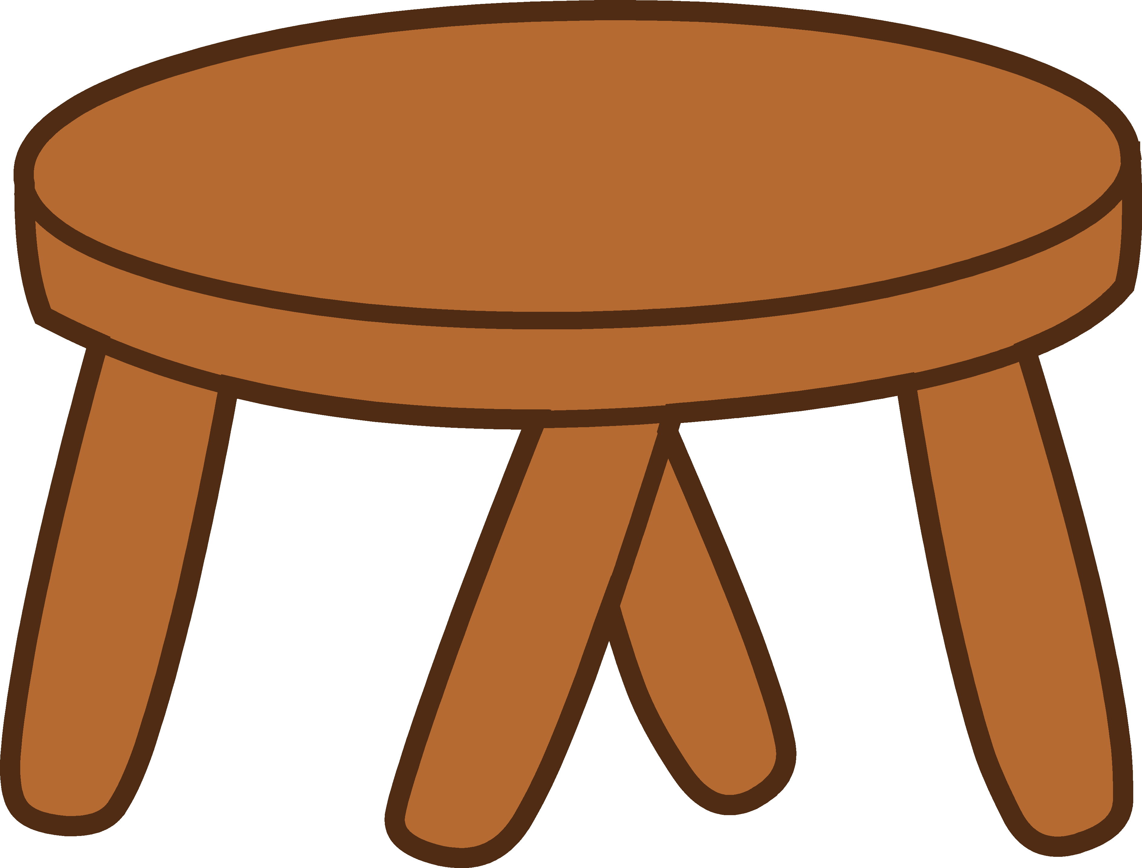 Furniture clipart wood furniture Wooden Free Foot Clip Clipart