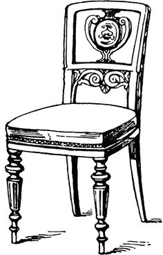 Furniture clipart wood furniture Table clip clipart  Chair