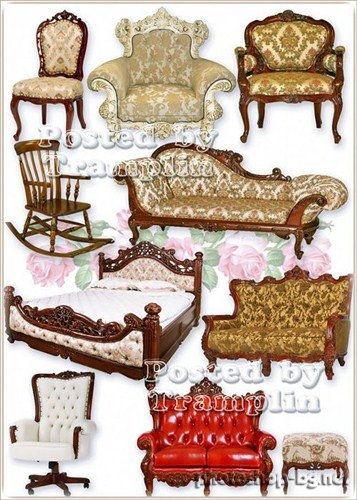 Furniture clipart wooden bed Chairs  carved Clipart wooden