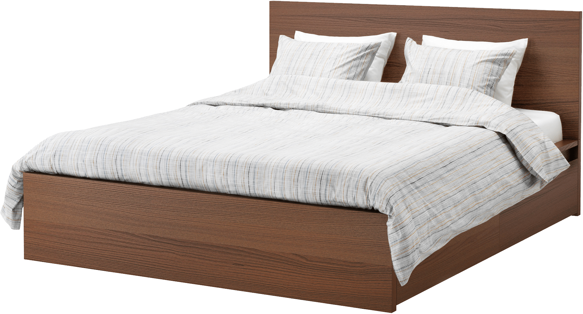 Furniture clipart wooden bed Bed Romantic Modern Bed transparent