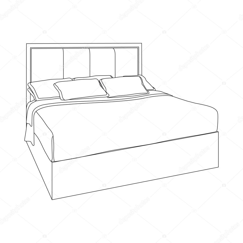 Furniture clipart wooden bed Furniture —  with Modern