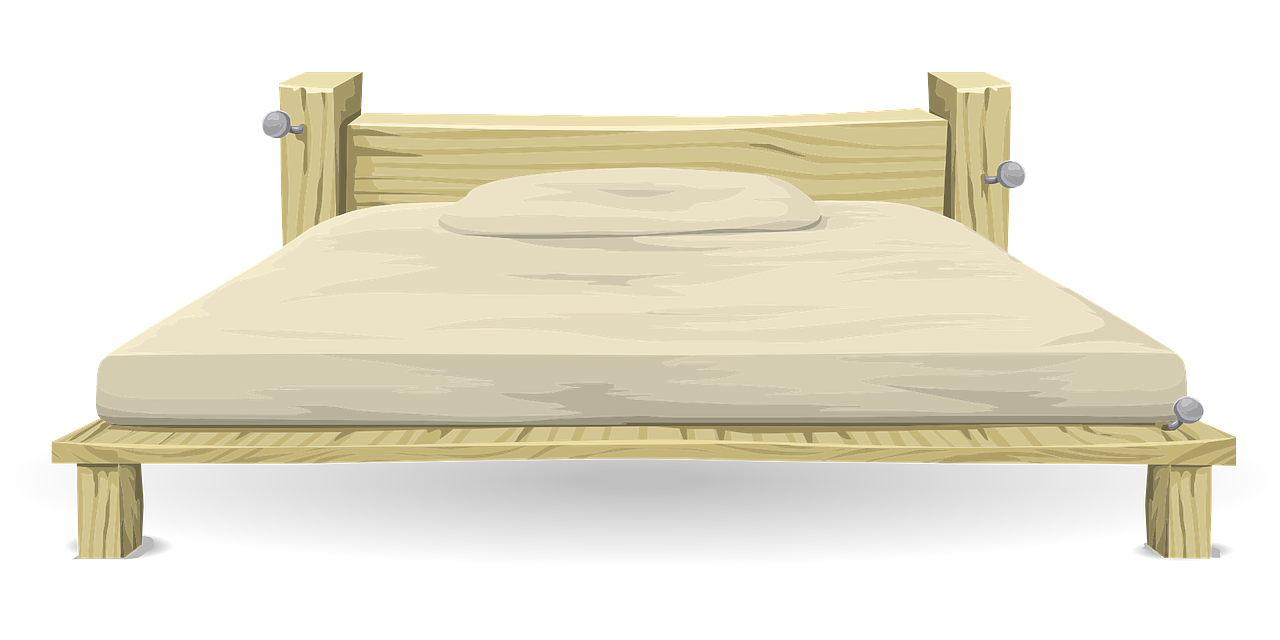 Wood clipart wooden bed To Furniture Art Public Clip