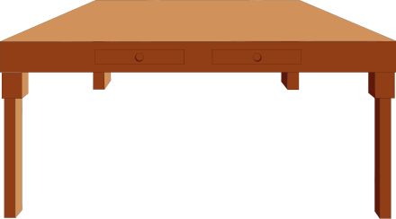 Furniture clipart wooden table Free Table  Art Wooden