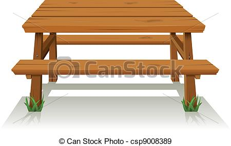 Furniture clipart wooden table  Wood csp9008389 table of