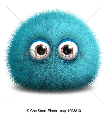 Furry clipart (55+) blue clipart fuzzy monster