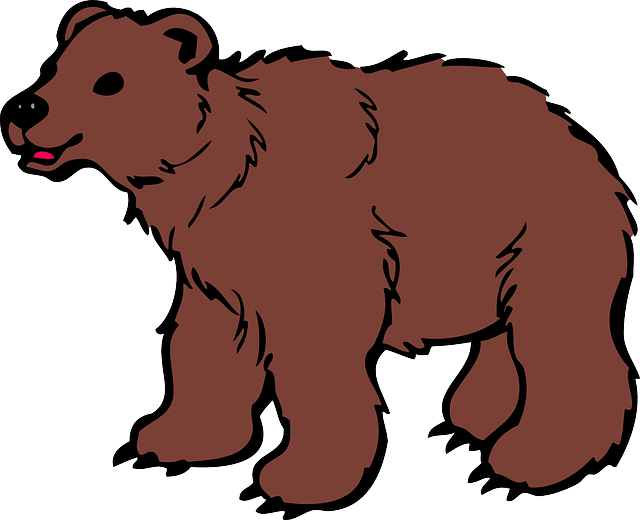 Furry clipart brown bear #5