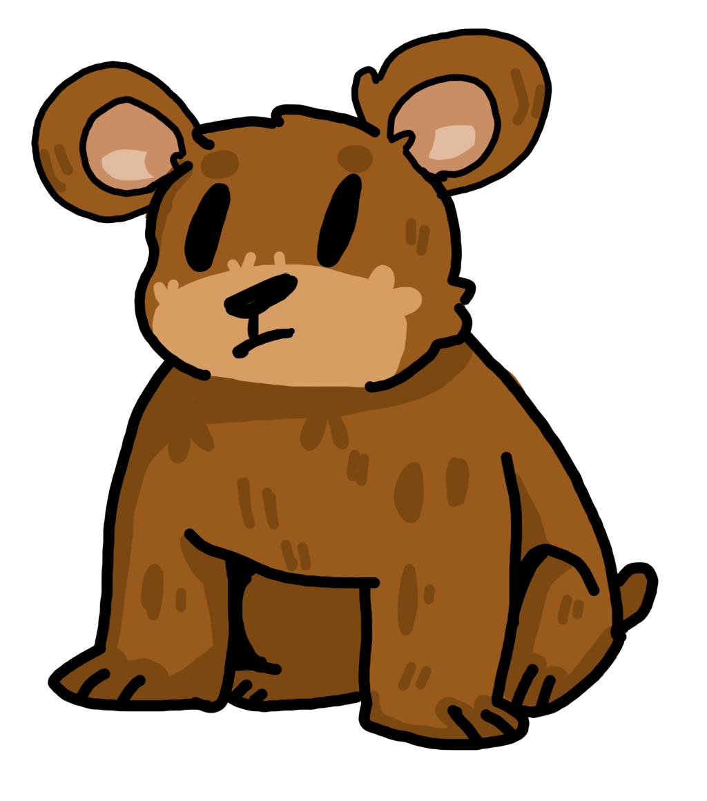 Furry clipart brown bear #2