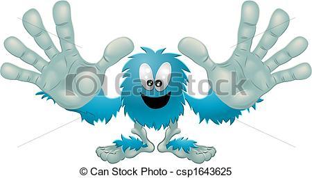 Monster clipart blue monster #13