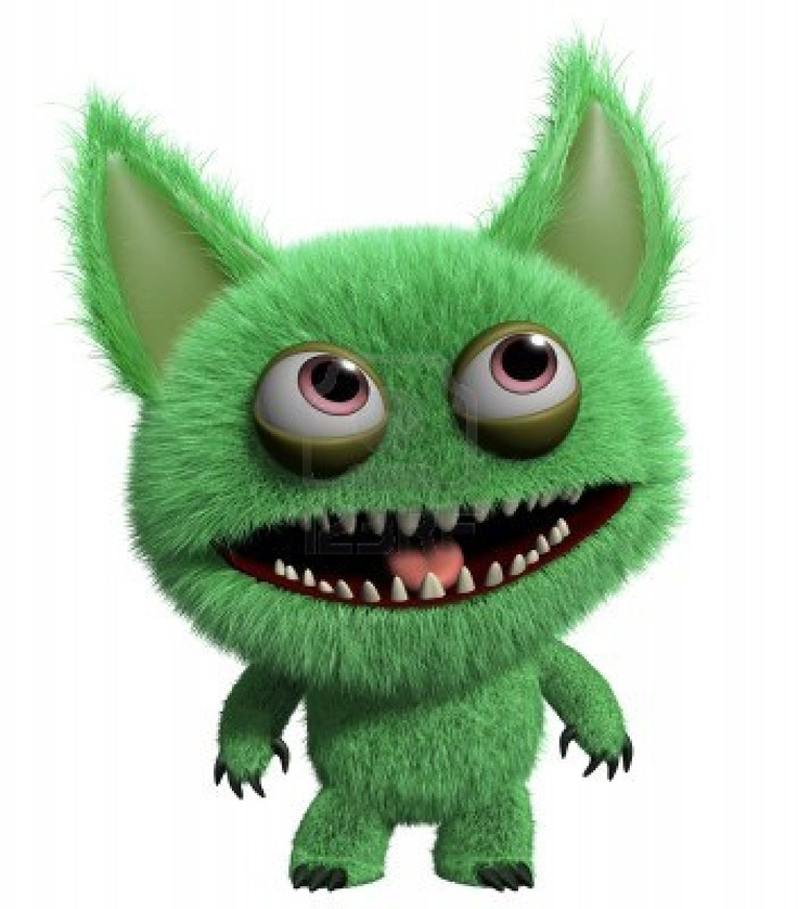 Furry clipart monster creature Monster furry Stock images Pinterest