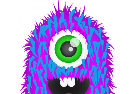 Furry clipart purple monster #7