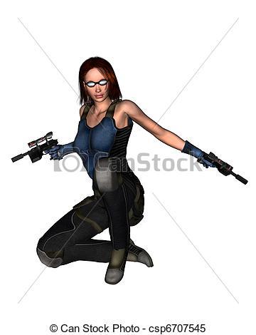 Futuristic clipart female #7