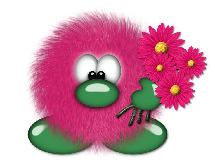 Fuzzy clipart About FLOWERS Clip best Pinterest