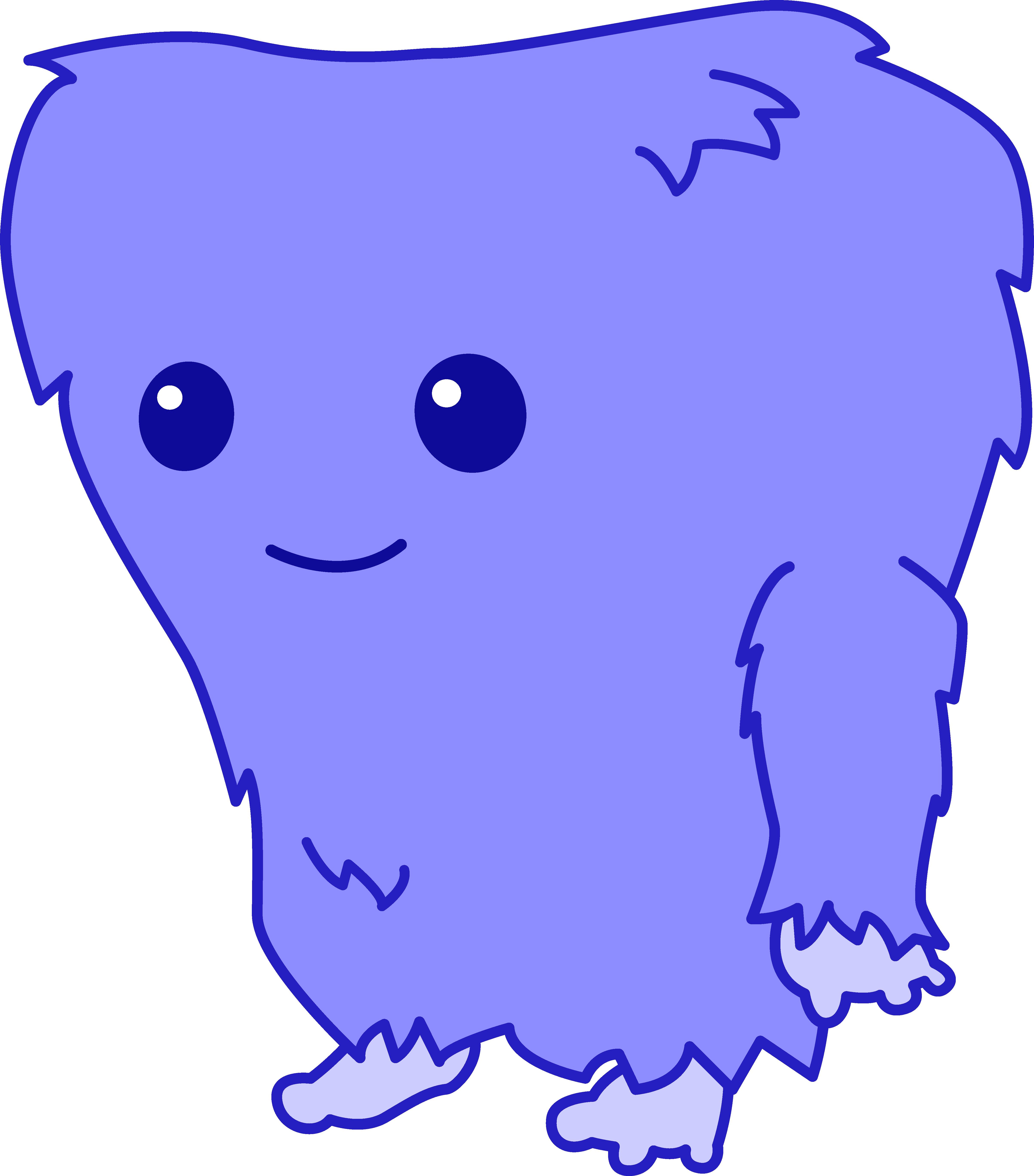Furry clipart monster creature Monster Blue Art Fuzzy Blue