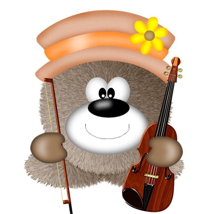 Fuzzy clipart cute music #8