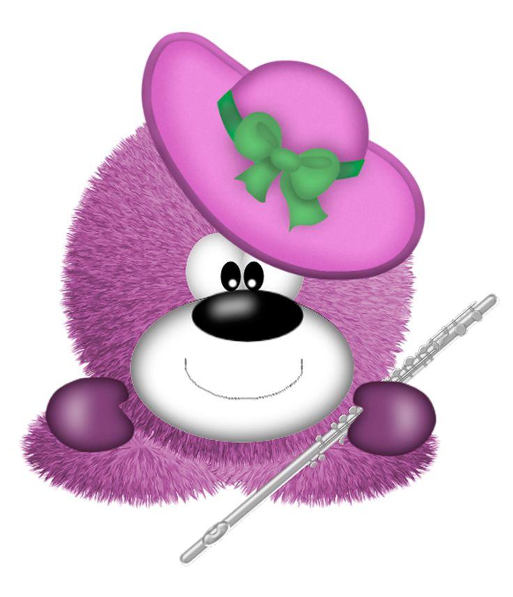 Fuzzy clipart cute music #7