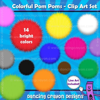 Fuzzy clipart pom pom #14