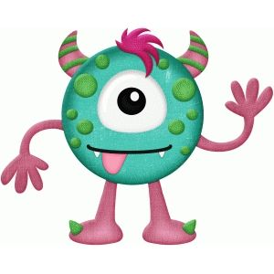 Monster clipart round #1
