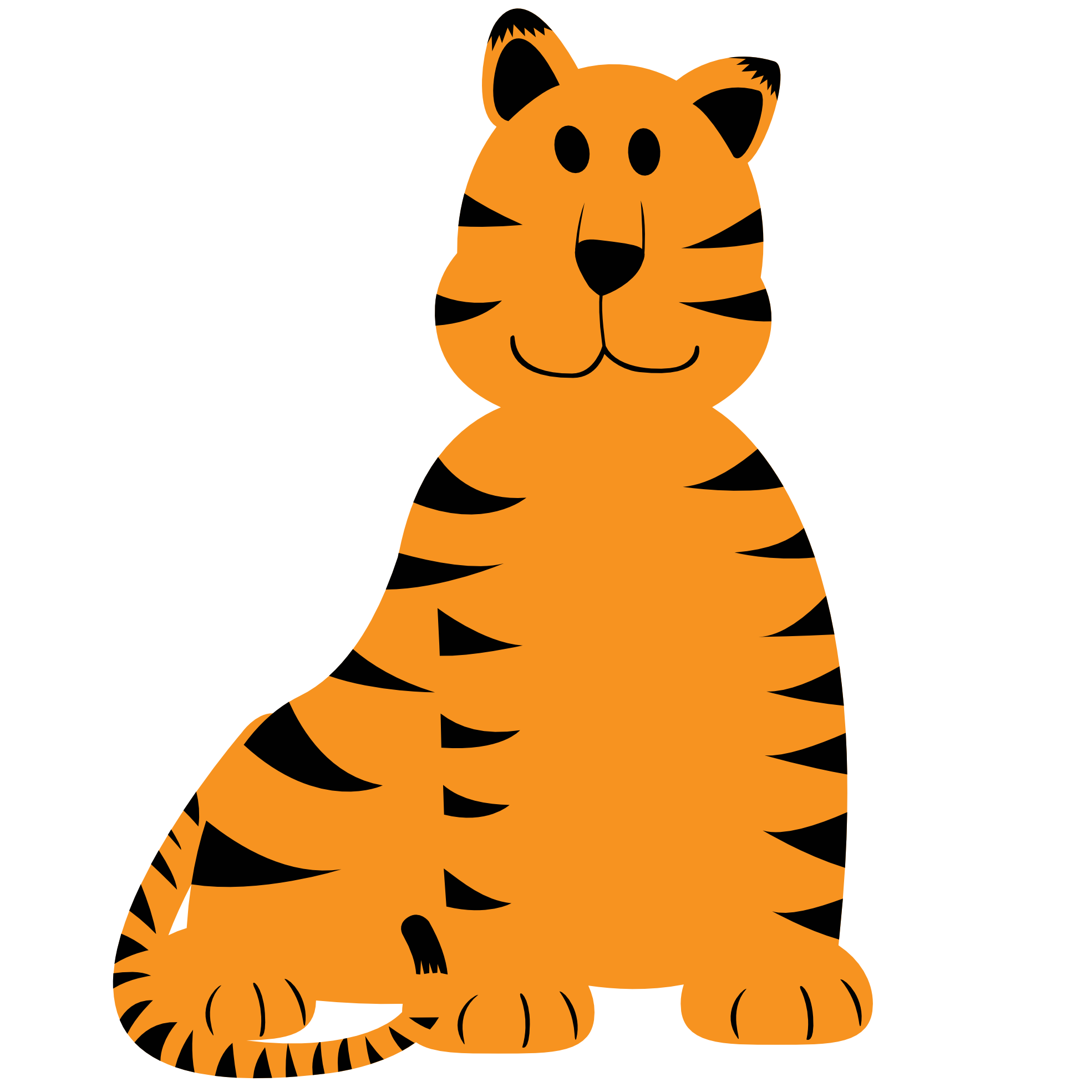 Tiger clipart orange #1