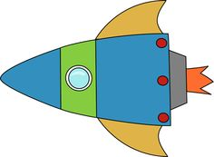 Galaxy clipart space exploration Astronomy Rocket Blue  Green